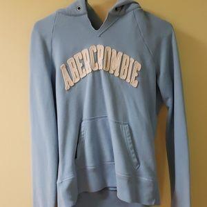 Junior Abercrombie light blue hoodie